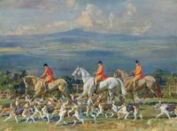 The Bramham Moor Hounds at Weeton Whin